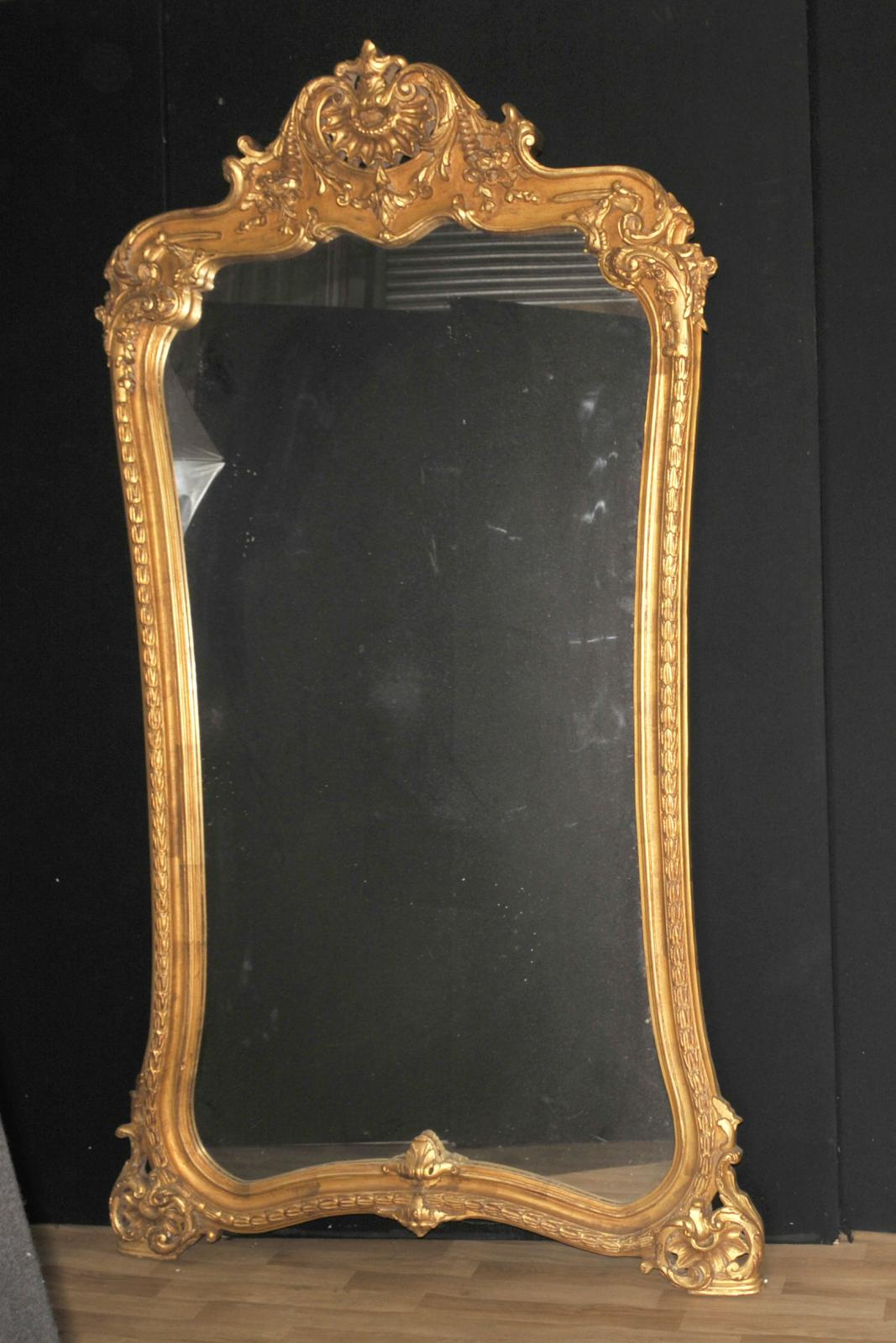 Large french louis xvi gilt pier mirror 7 foot ebay for 7 foot mirror