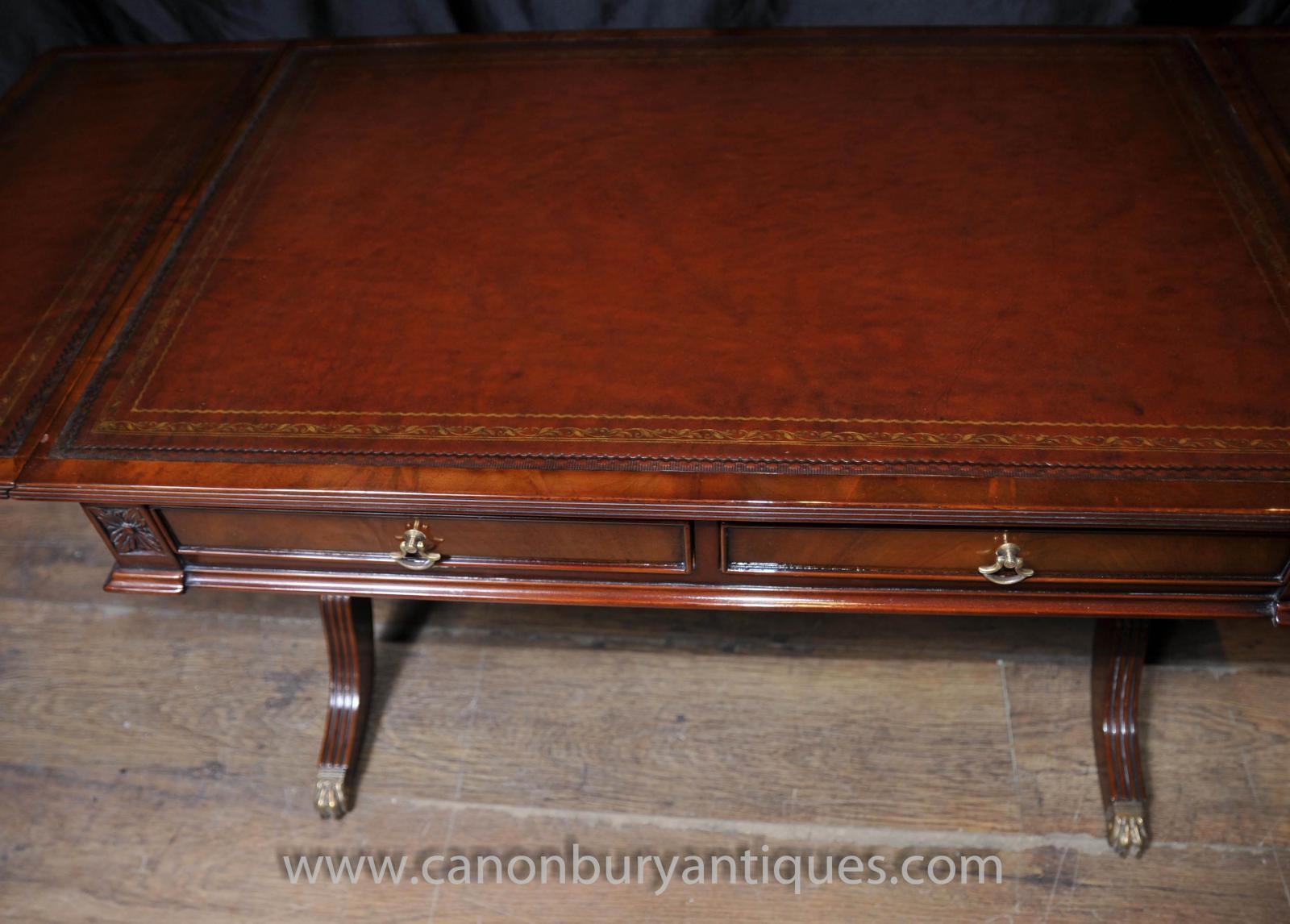 Mahogany Regency Coffee Table Extending Tables Desk Ebay
