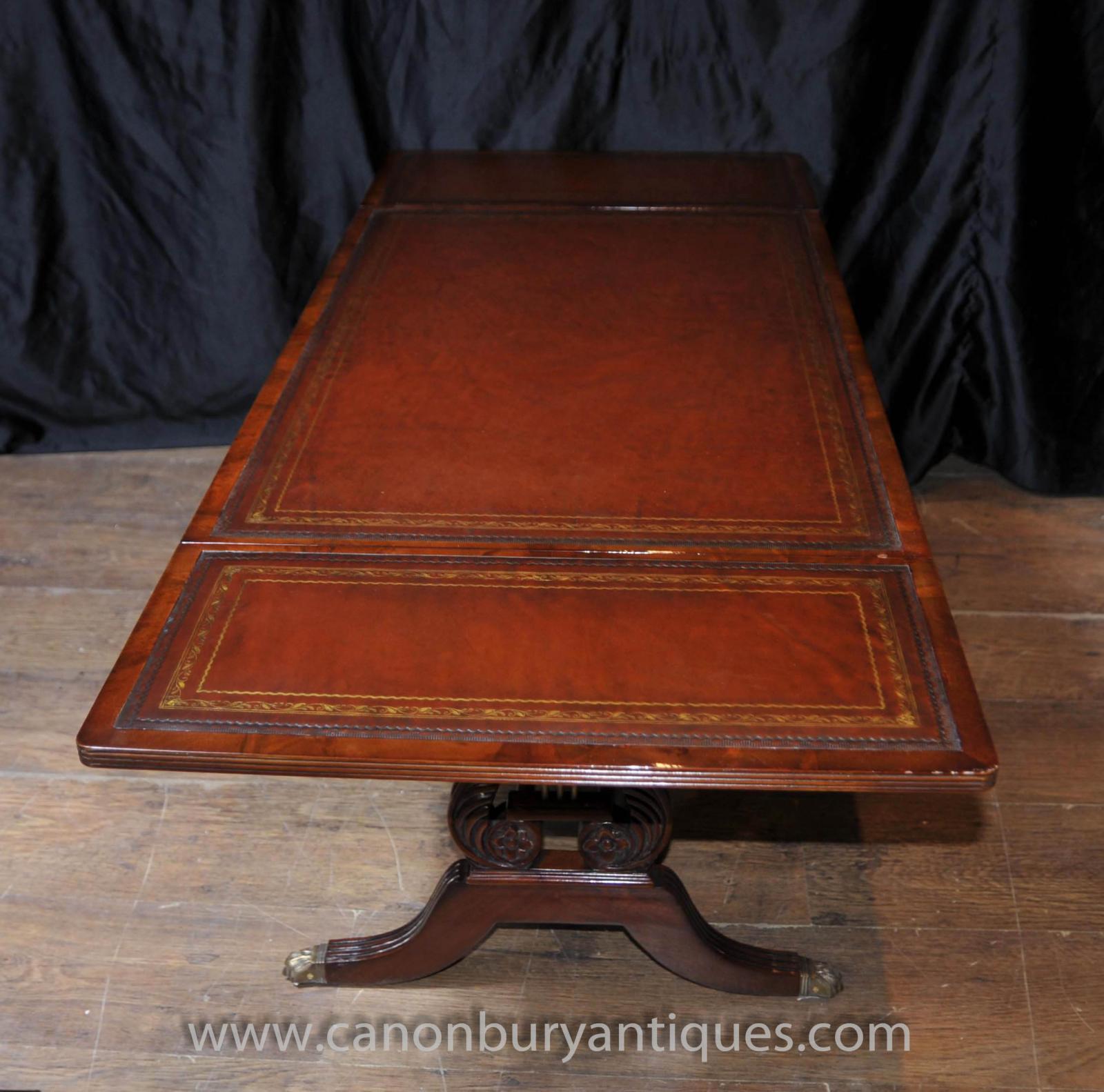 Mahogany Coffee Table: Mahogany Regency Coffee Table Extending Tables Desk