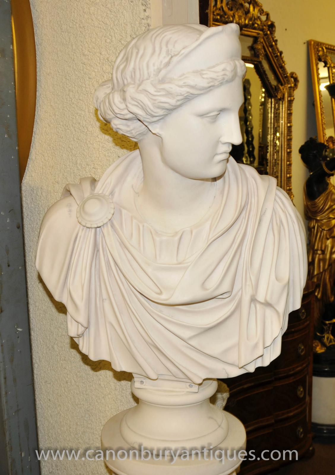 Marble Resin Bust Athena Greek Goddess Statue Ebay
