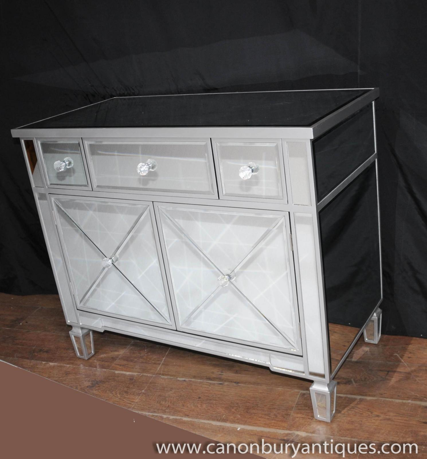 mirrored chest drawers cabinet art deco mirror furniture On art deco mirrored furniture
