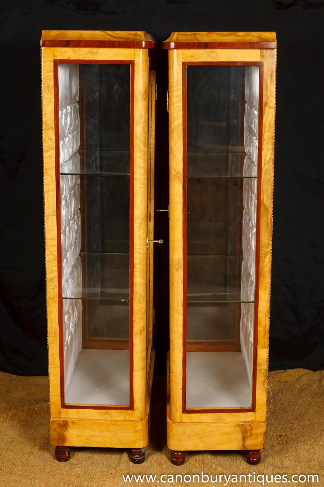 #C0830B Pair Art Deco Display Cabinets Glass Fronted Bijouterie  with 1066x1600 px of Highly Rated Glass Fronted Display Cabinets For The Home 16001066 picture/photo @ avoidforclosure.info