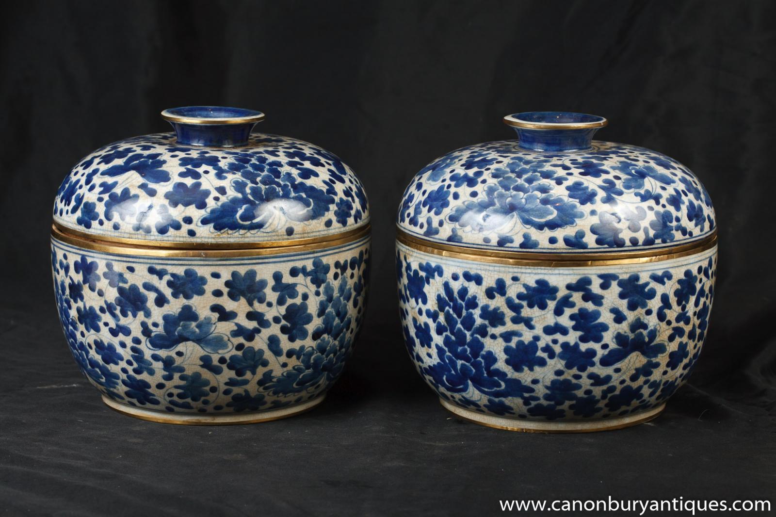 Pair Chinese Kangxi Blue and White Porcelain Lidden Urns  : Pair20Chinese20Kangxi20Blue20and20White20Porcelain20Lidden20Urns20Pots 1401824253 zoom 17 from www.ebay.co.uk size 1600 x 1066 jpeg 196kB