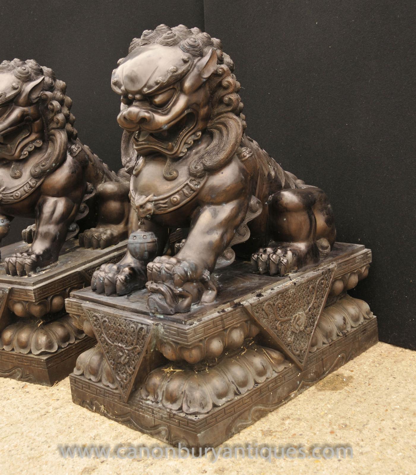 Foo dog statue temple - photo#10