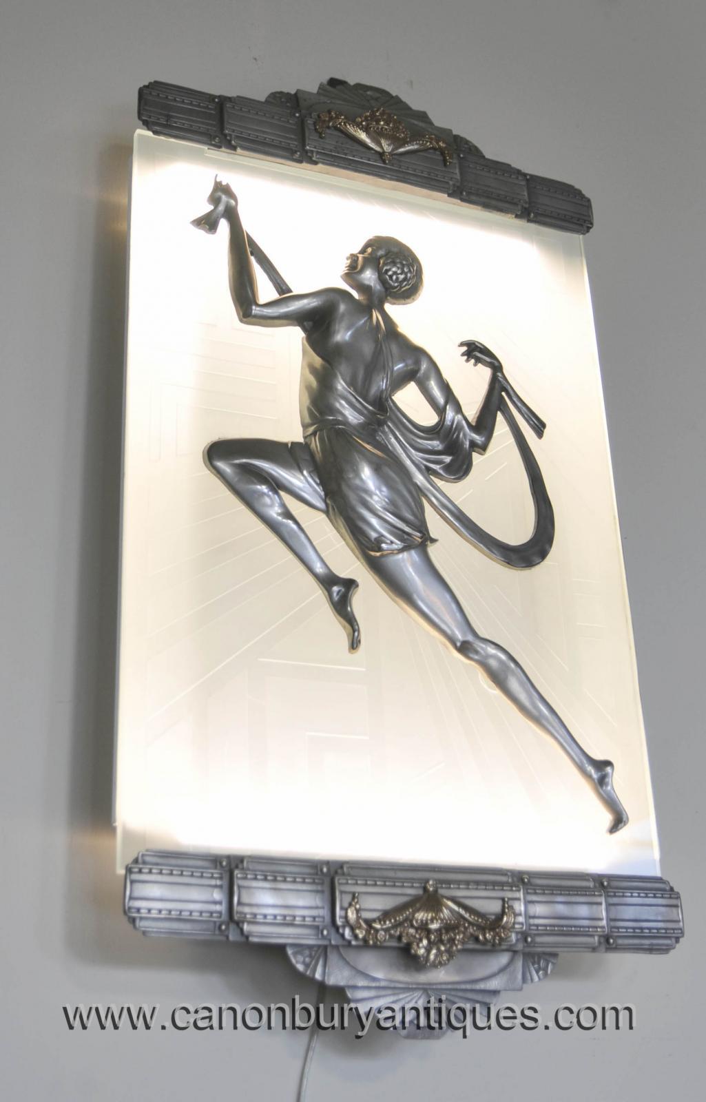 pair art deco bronze wall lights sconces appliques by gori plaques ebay. Black Bedroom Furniture Sets. Home Design Ideas