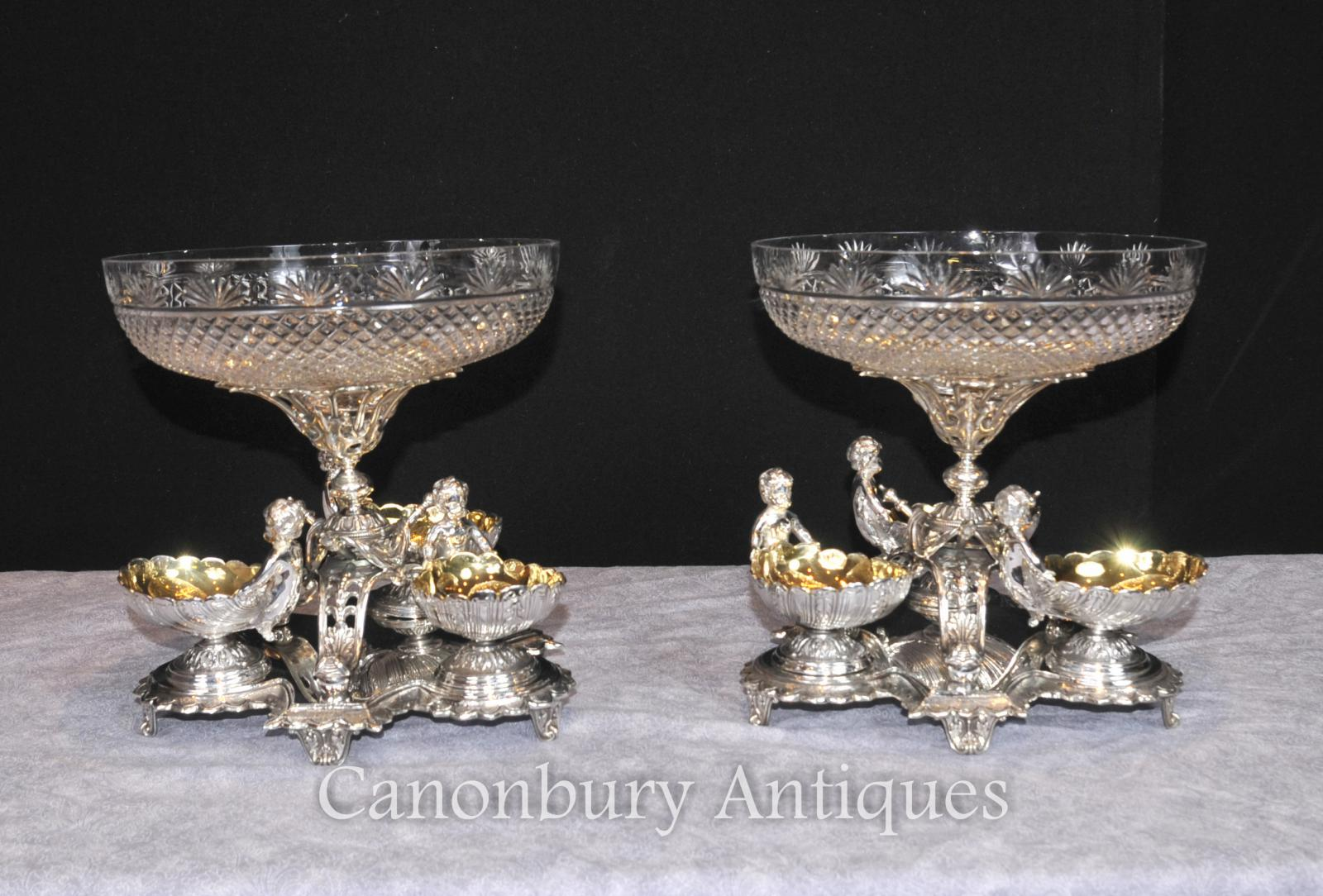 Silver Plate Cherub Bowls Dishes