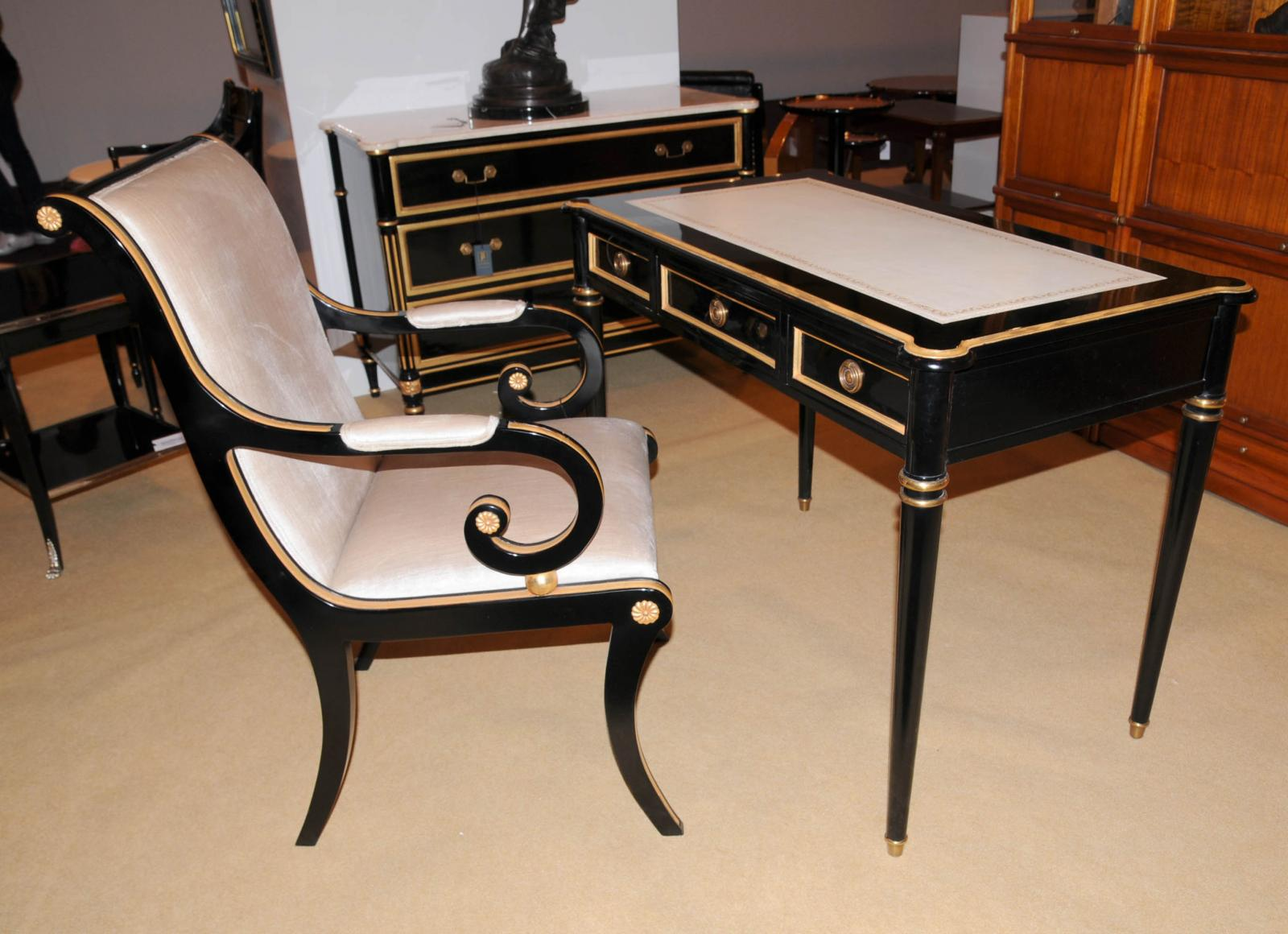 writing desk and chair set Quickview traditional tolliver writing desk and chair set styling lends an air of class to your work space with this desk and chair set classic chippendale looks.