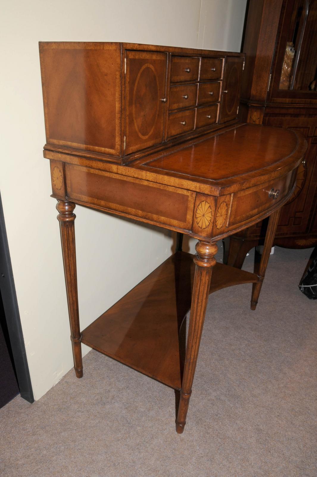 Regency bonheur du jour desk writing table cabinet walnut for Meuble bonheur du jour
