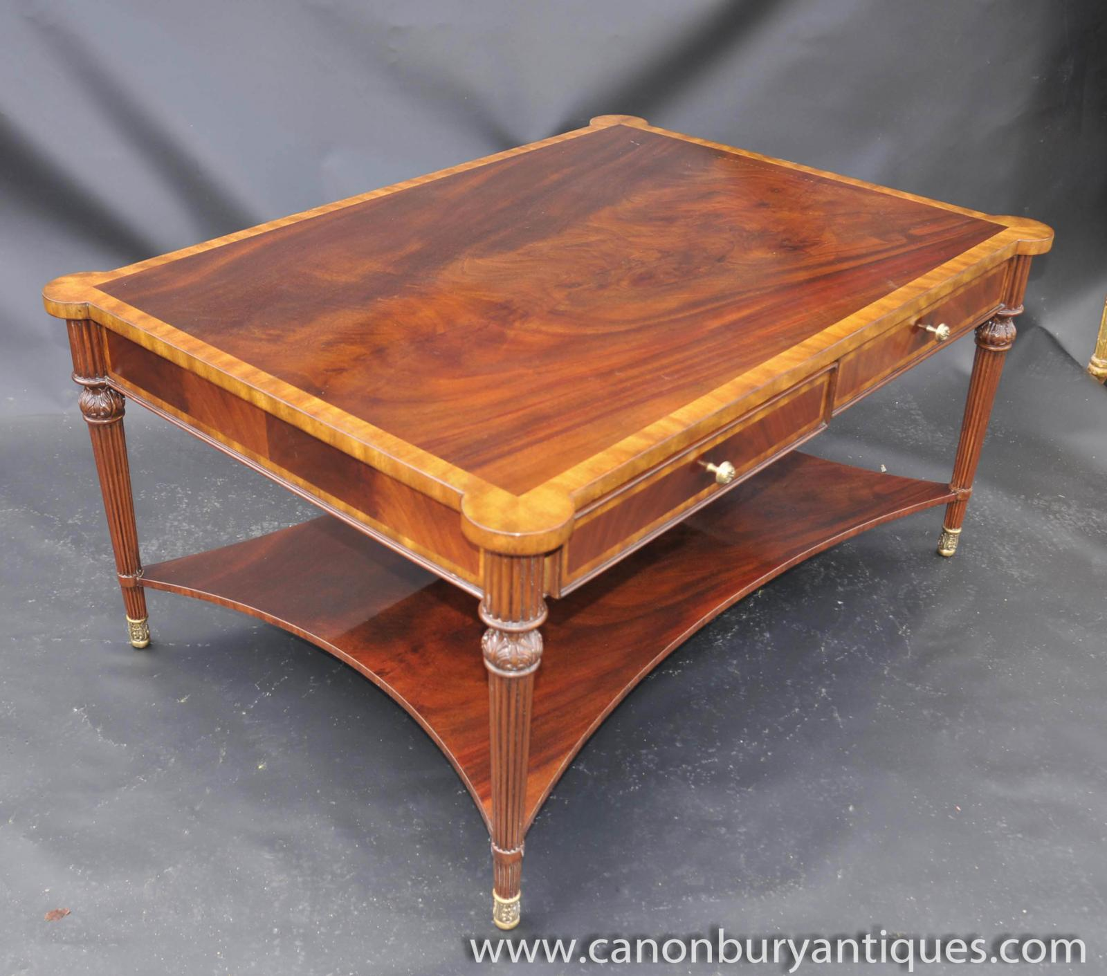 Regency Coffee Table Flame Mahogany Tables English Furniture Ebay