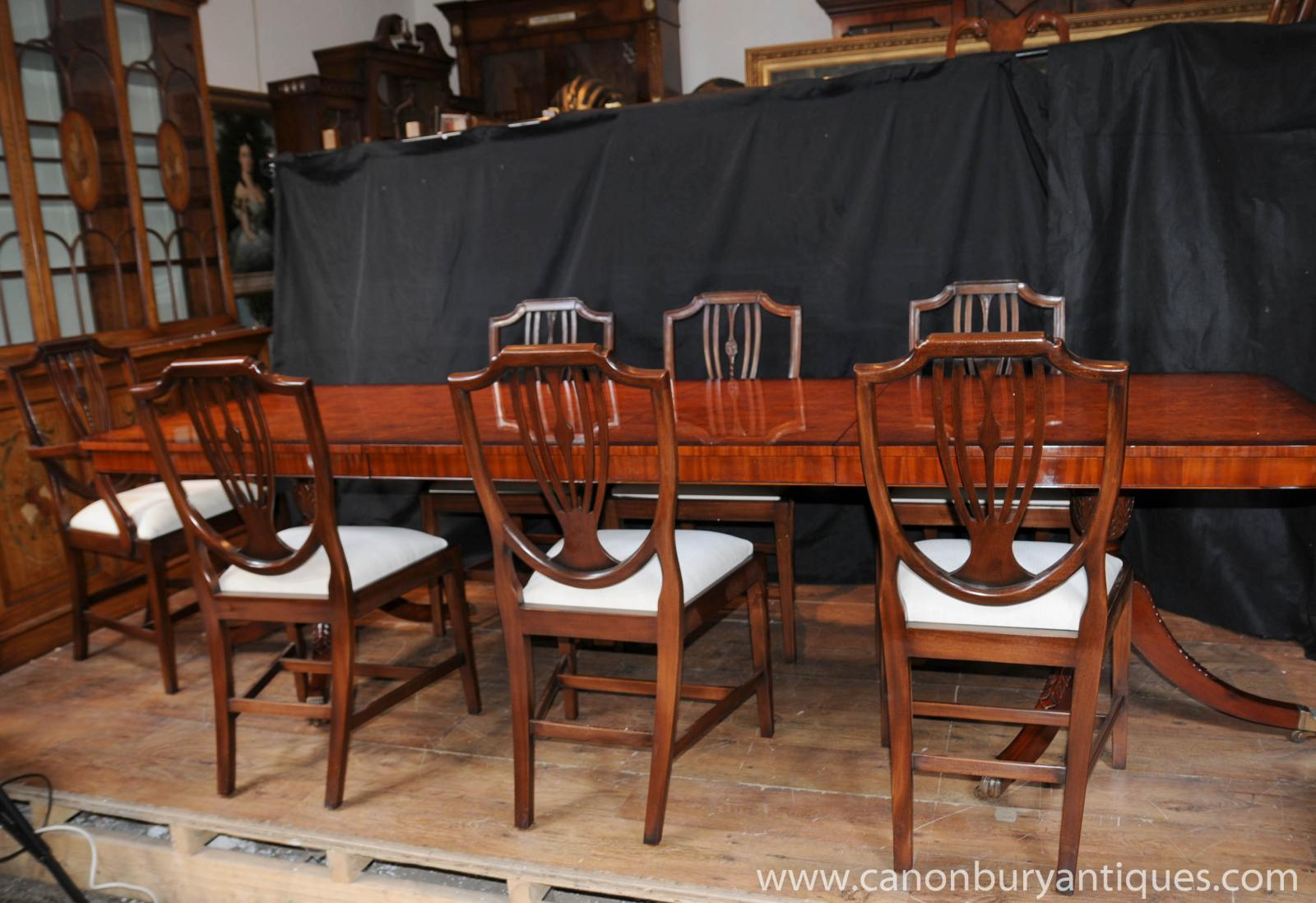 Details About Regency Dining Set Table Chair Suite 8 Shieldback Chairs