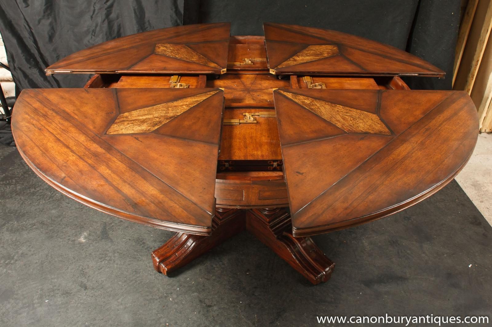 regency jupes dining table expanding round centre table ebay. Black Bedroom Furniture Sets. Home Design Ideas