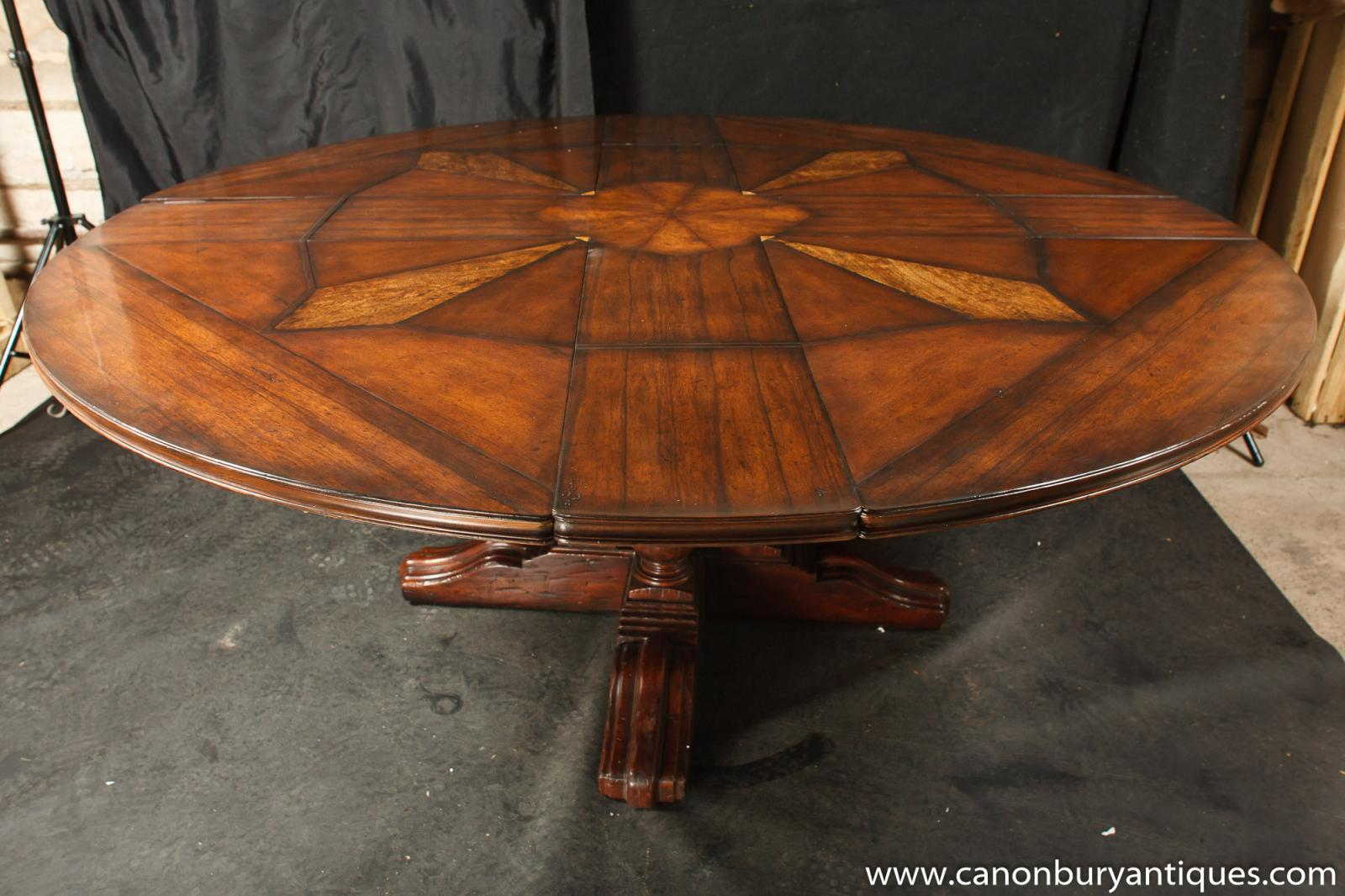 details about regency jupes dining table expanding round centre table