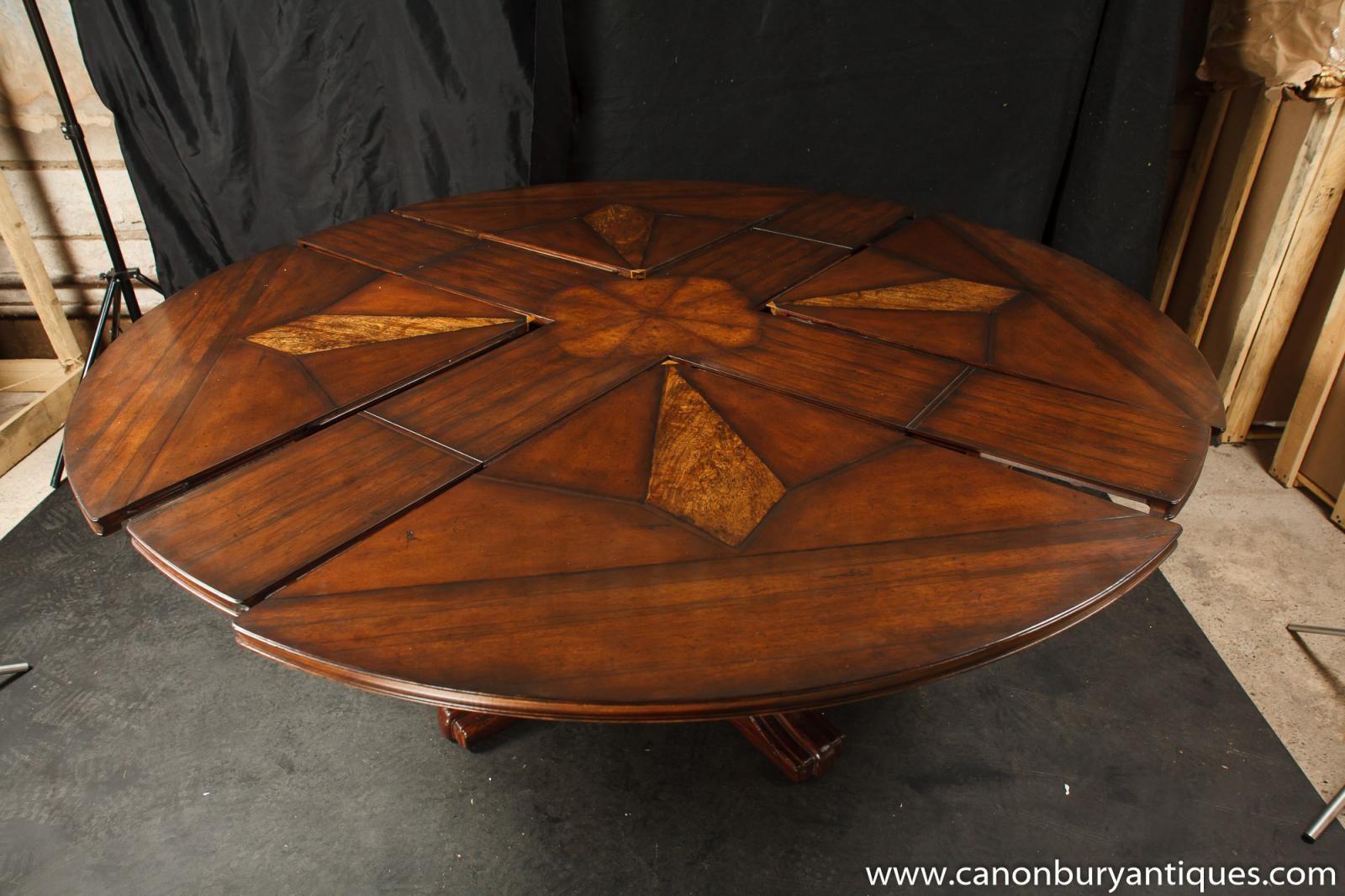 regency jupes dining table expanding round centre table ebay