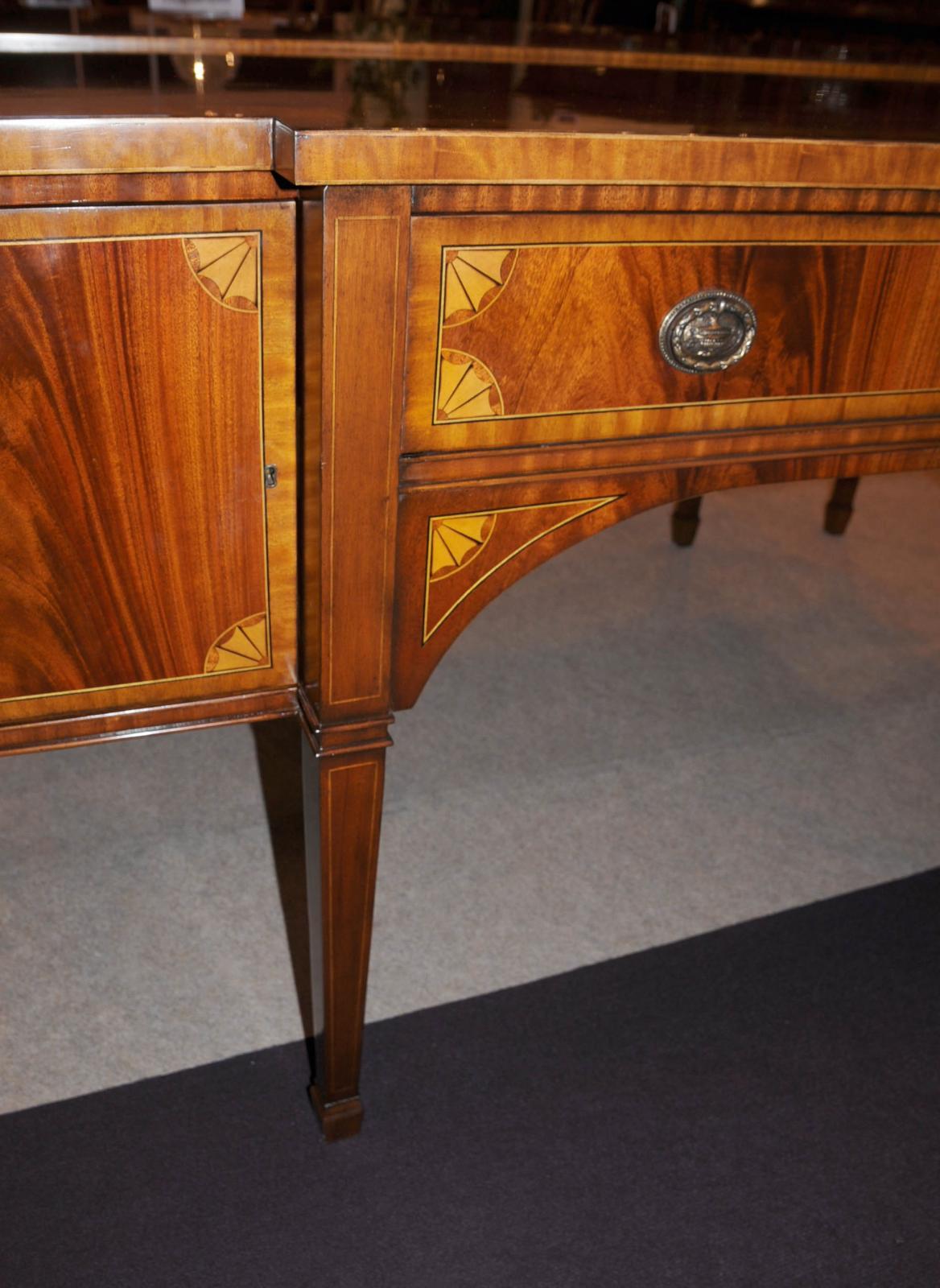 regency mahogany sideboard buffet server inlay dining. Black Bedroom Furniture Sets. Home Design Ideas