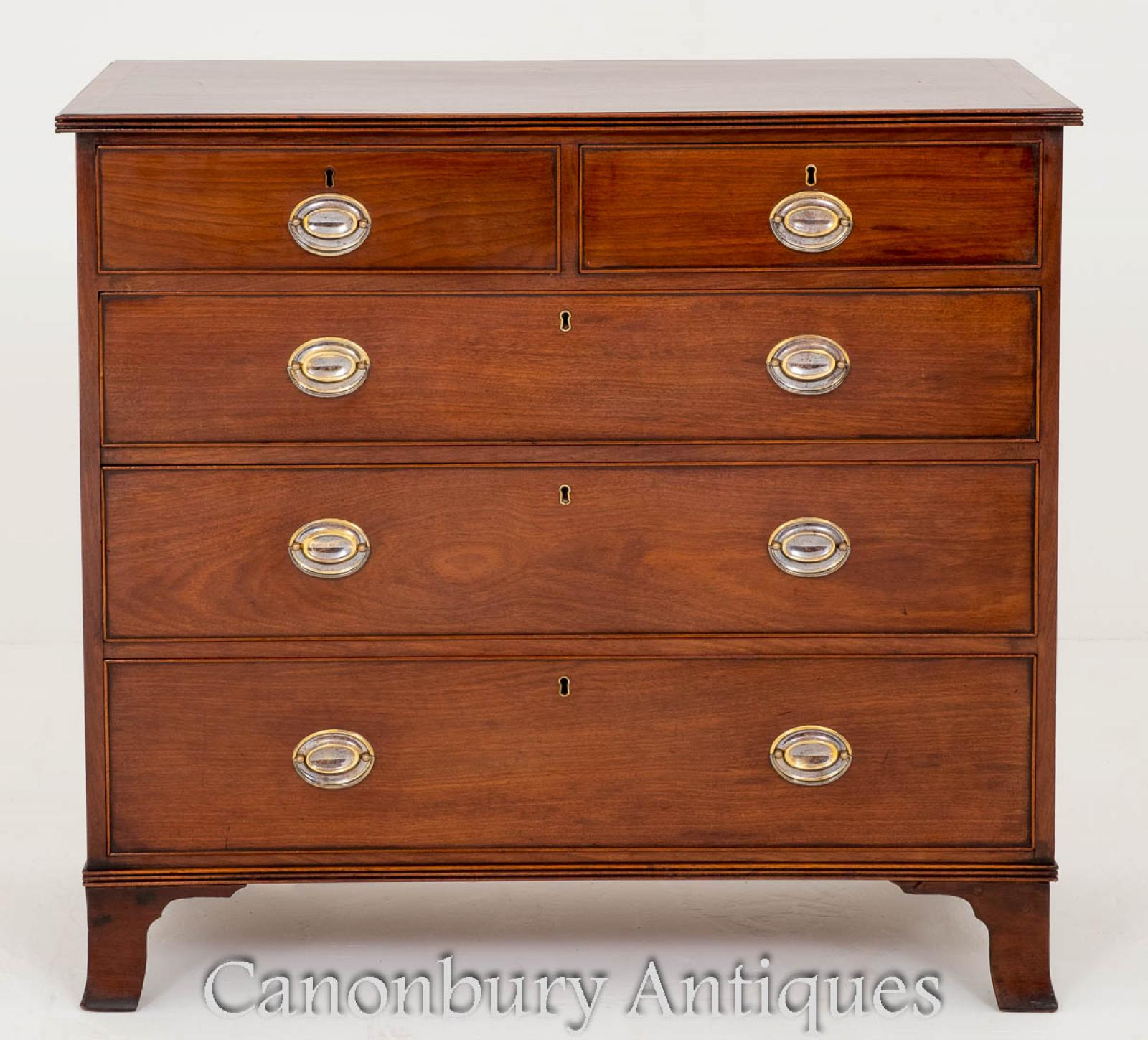 19th Century Objective Antique Empire Dresser Commode Chest Of Drawers In Mahogany Chests Of Drawers