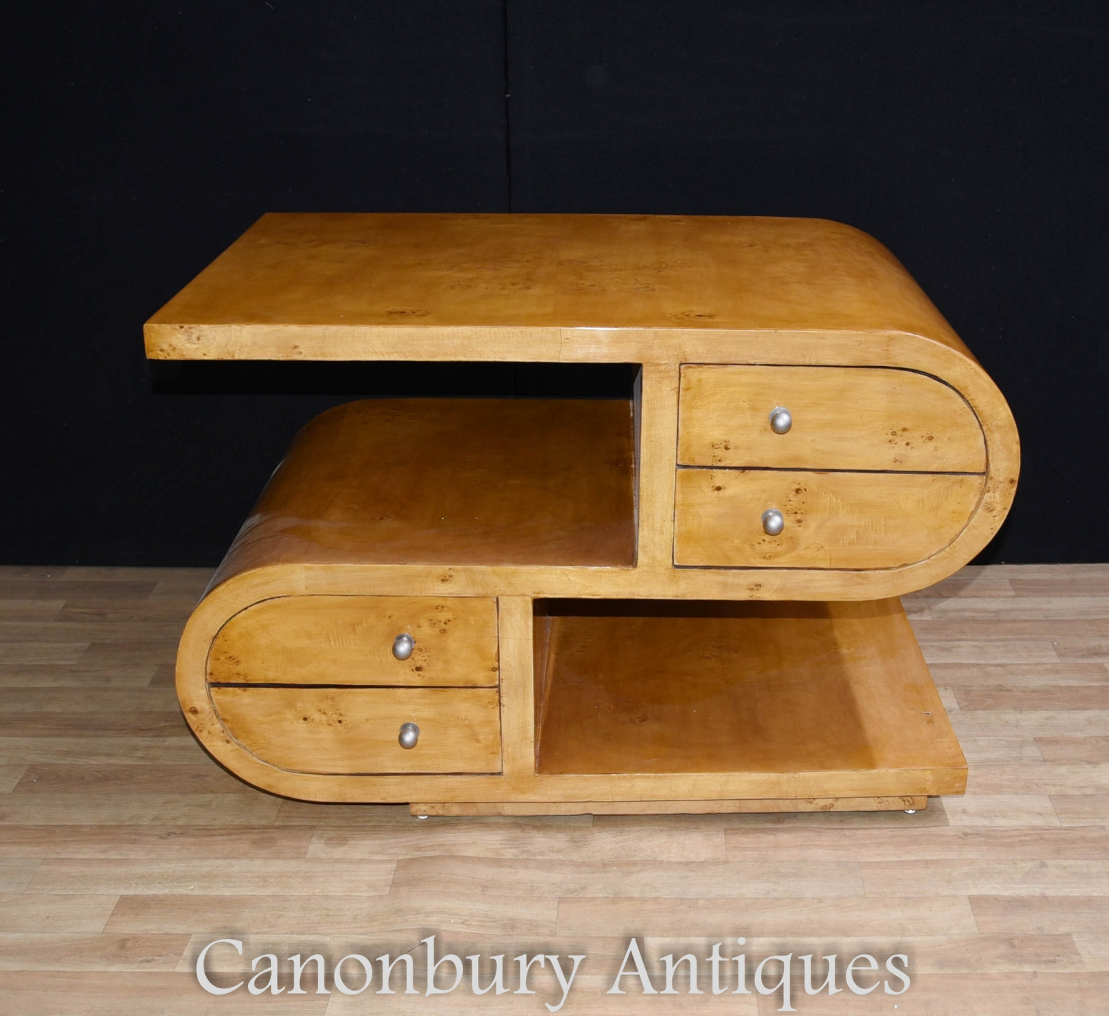 S shape art deco coffee table cocktail tables 1920s furniture ebay piece description you are viewing a gorgeous and unique s shaped art deco coffee table geotapseo Gallery