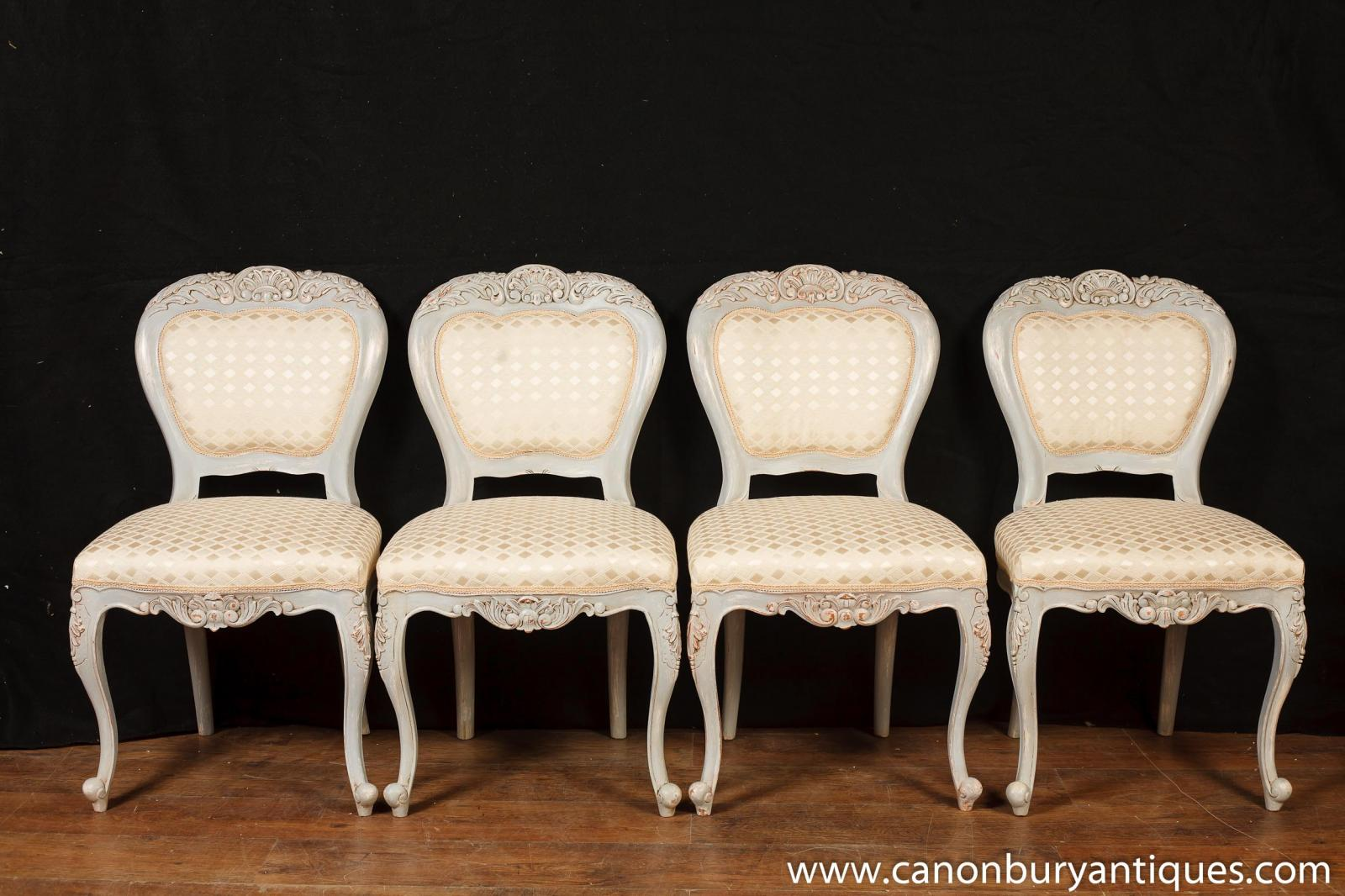 Set 8 French Provincial Painted Dining Chairs Rustic Furniture Ebay