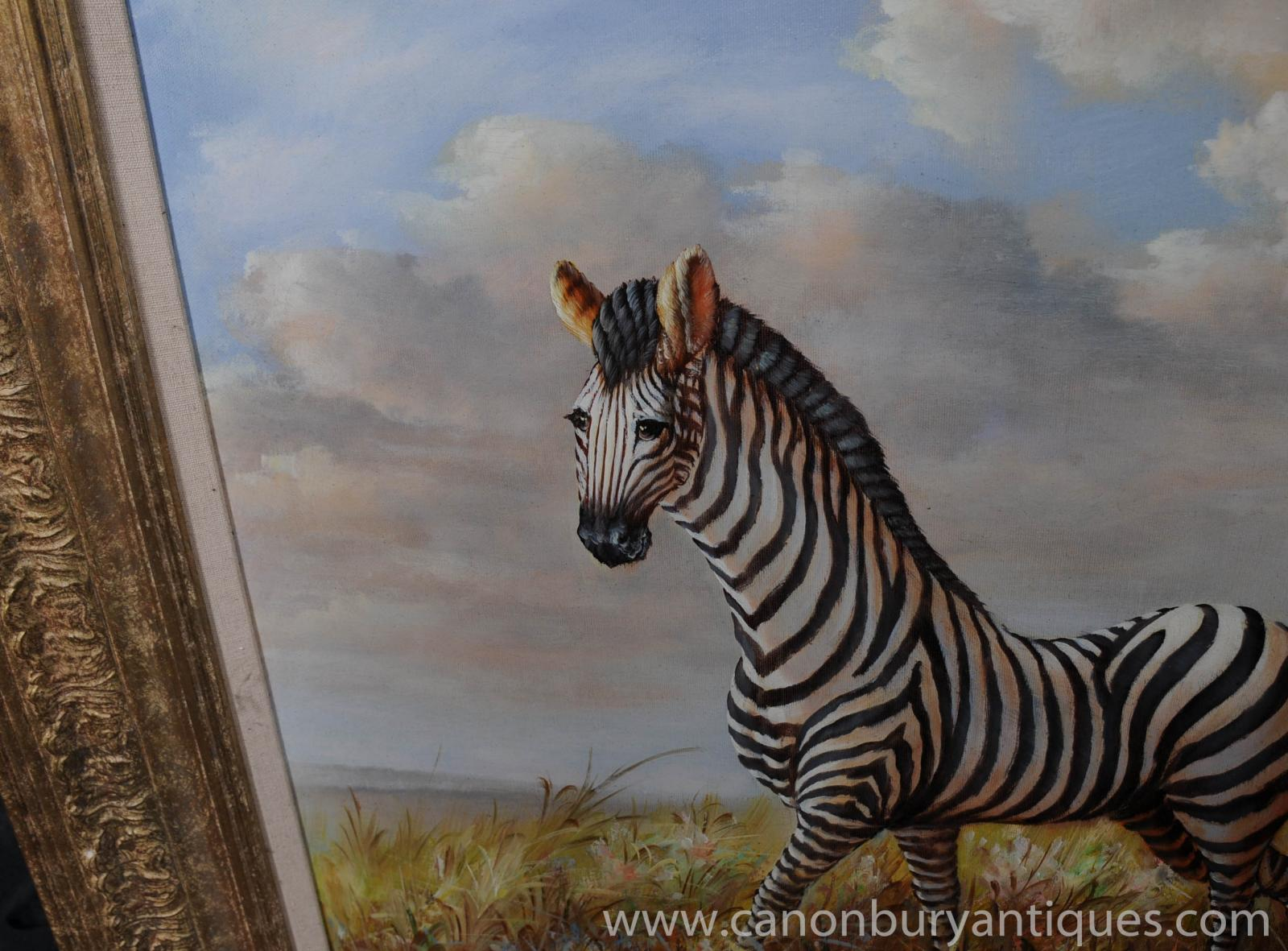 zebra oil painting - photo #45