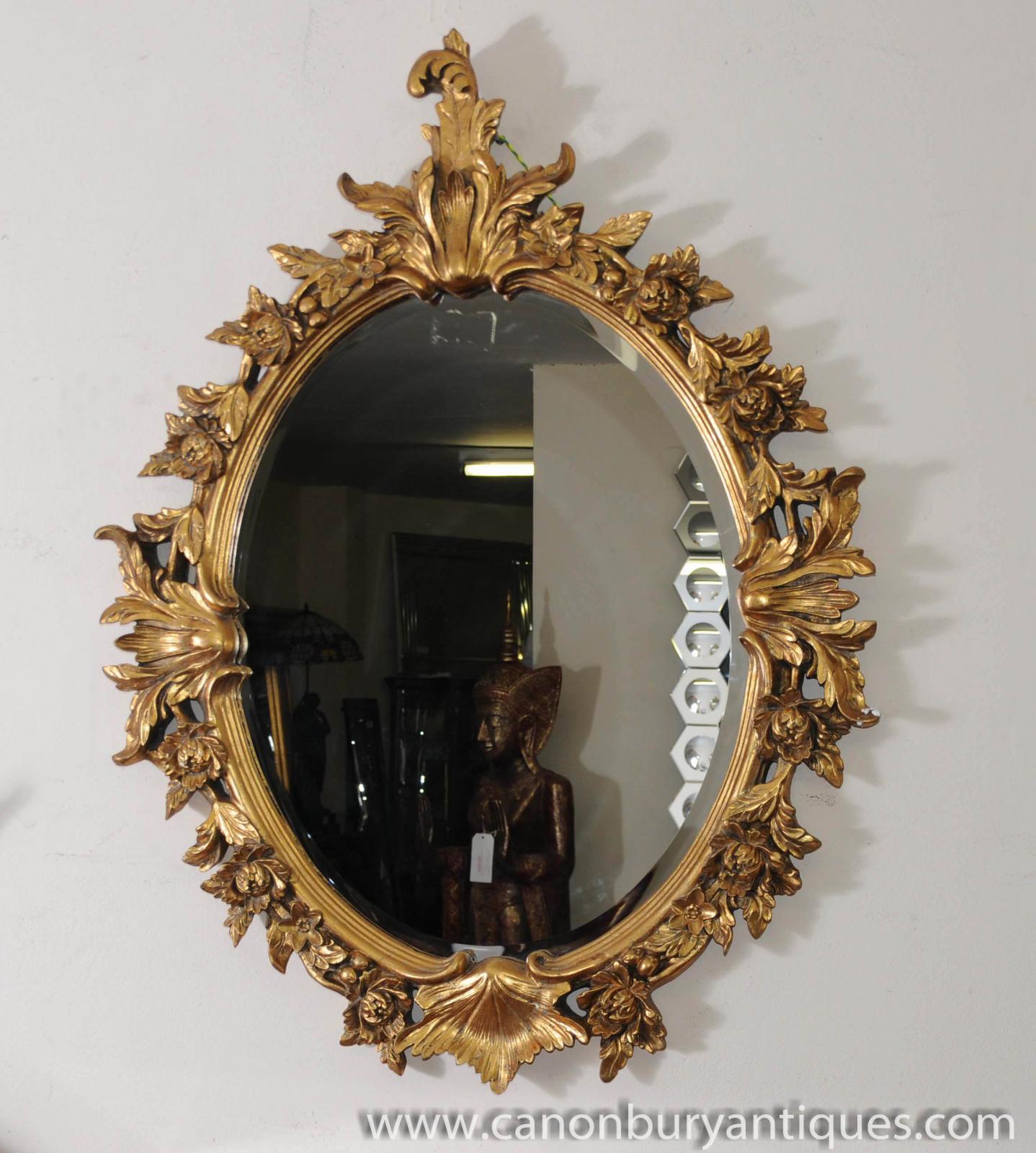 Victorian rococo oval pier mirror floral gilt frame for Mirror please