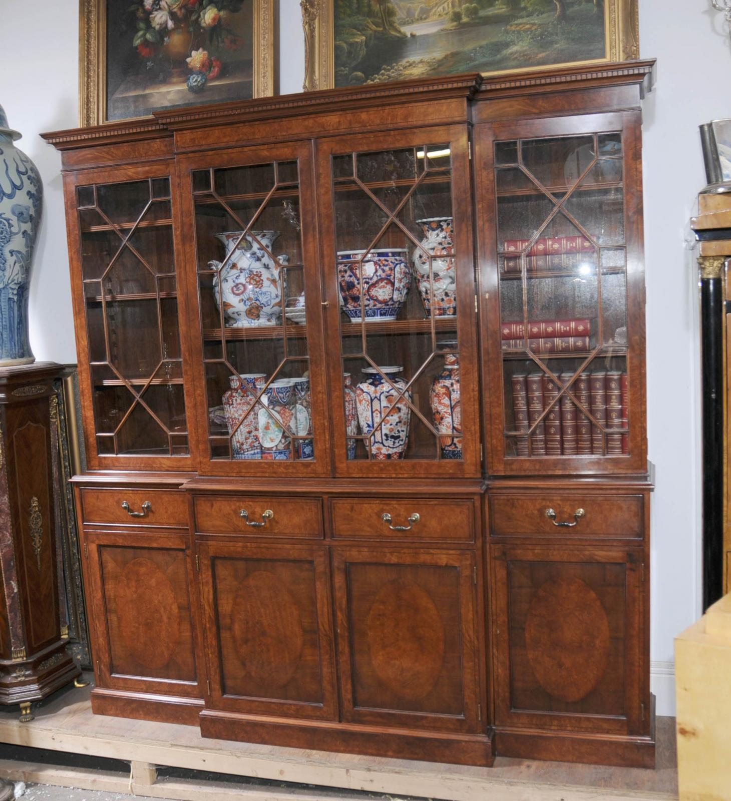 two bookcase large bolanburg home tone product office bookcases