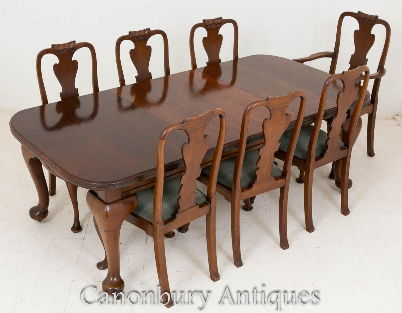victorian dining set mahogany tables and chairs 1900 ebay. Black Bedroom Furniture Sets. Home Design Ideas