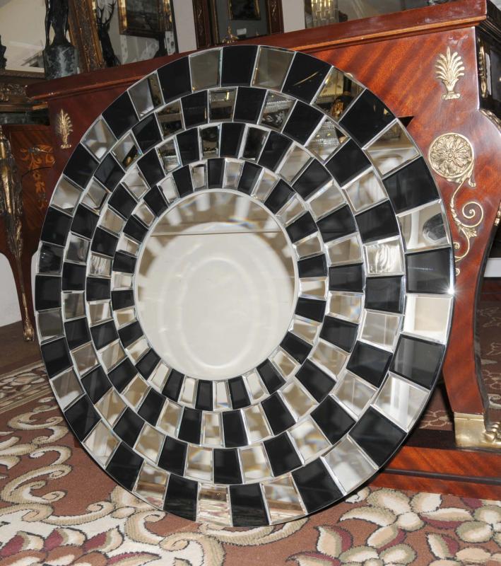 Photo of A Round Art Deco Glass Mirror Interior Design