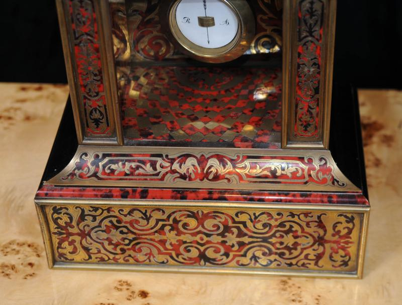 Photo of Antique Boulle Inlay French Mantel Clock