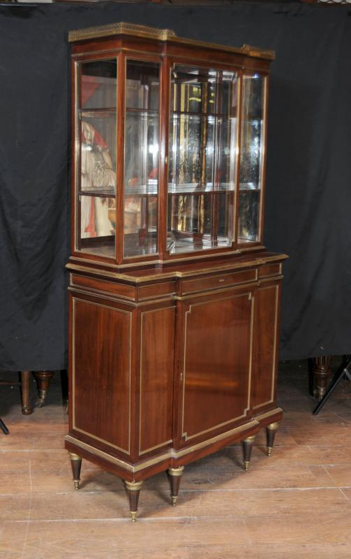 Photo of Antique French Empire Cabinet Directoire Bookcase Display Unit