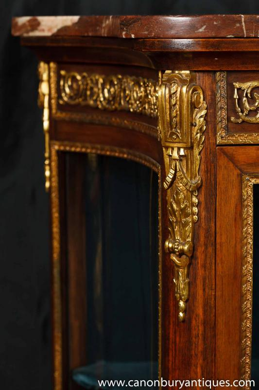 Photo of Antique French Empire Display Cabinet Vitrine 1900
