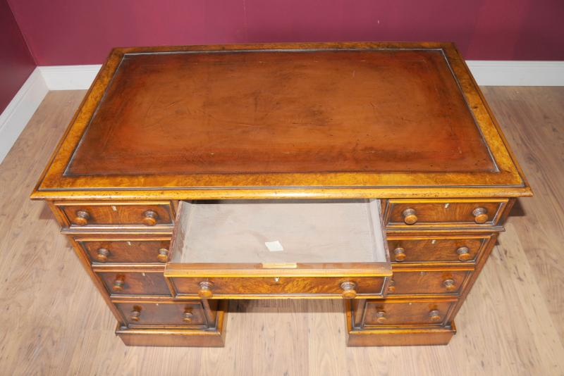 Photo of Antique Knee Hole George II Writing Desk Table