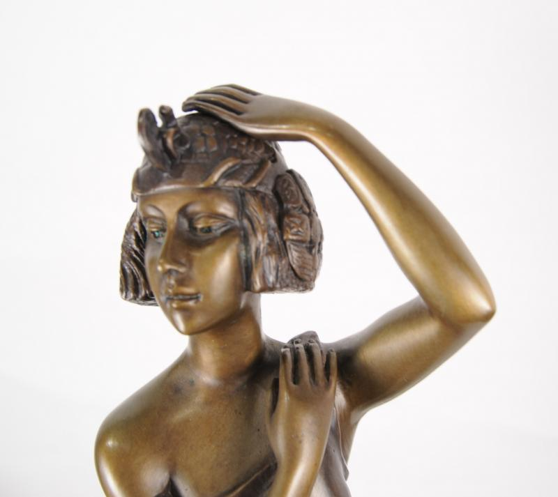 Photo of Art Deco Bronze Figurine Grand Entrance by Riviere