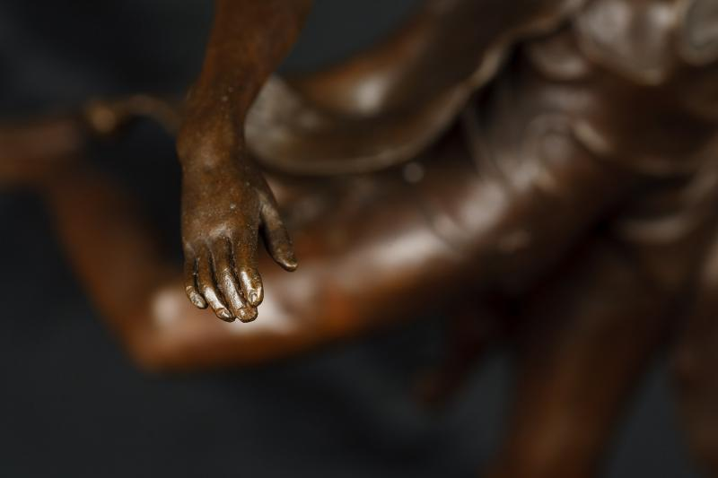 Photo of Art Deco Dancer Girl Bronze Statue Signed B Zach Casting