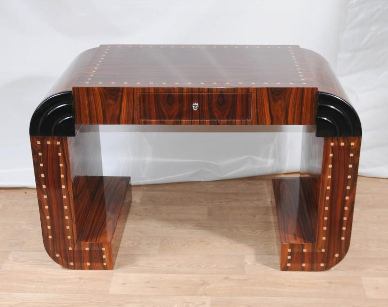 Art deco desk writing console table vintage 1920s for Art deco writing