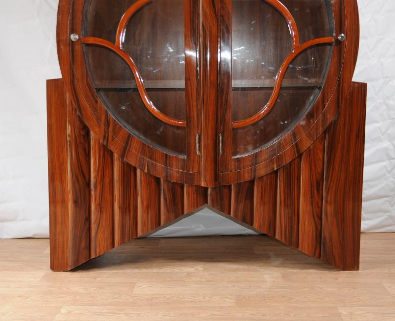 Of Art Deco Display Cabinet Bookcase Rosewood Vintage Furniture Design