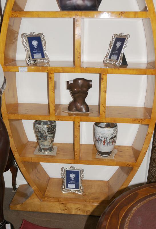 Photo of Art Deco Egg Bookcase Shelf Unit Modernist