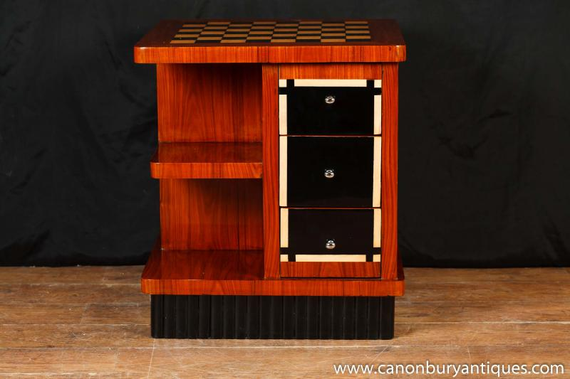 Art Deco Games Table Coffee Tables Bookcase Chess Furniture | eBay