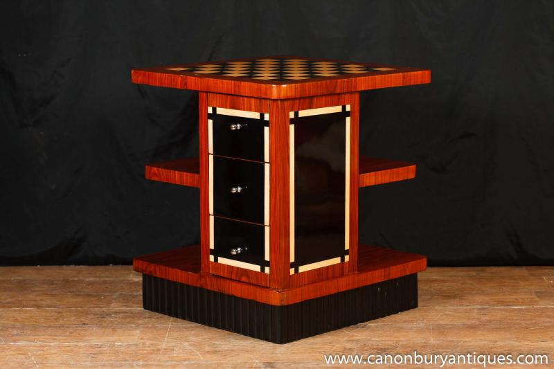 ... art deco table coffee tables bookcase chess furniture ... - Bookcase Coffee Table