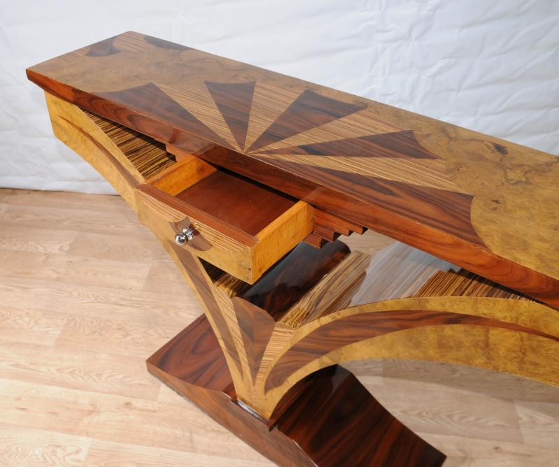 Photo of Art Deco Inlay Hall Table Console Tables Vintage Furniture
