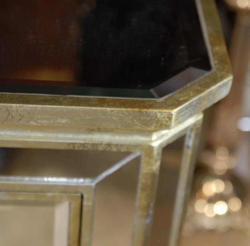 Art deco mirrored italian chest drawers commode cabinet ebay for Commode miroir art deco