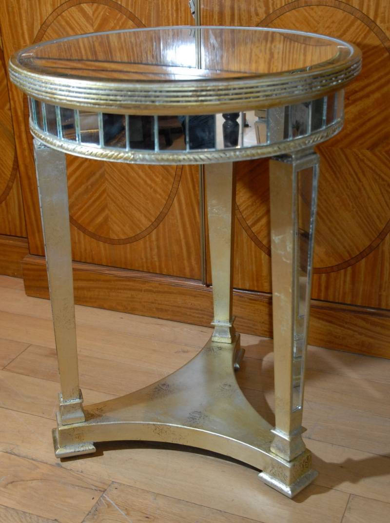round glass side tables round nickel mirrored side table mec