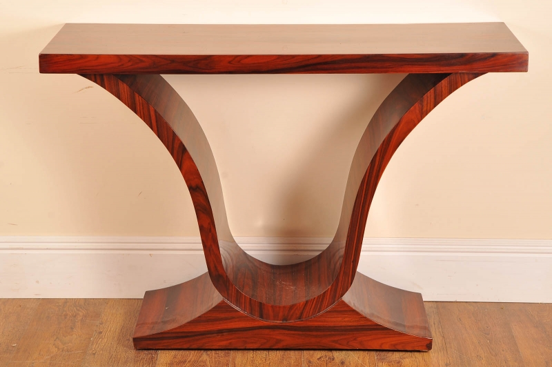 Art Deco Foyer Furniture : Art deco rosewood console table ogee tables ebay
