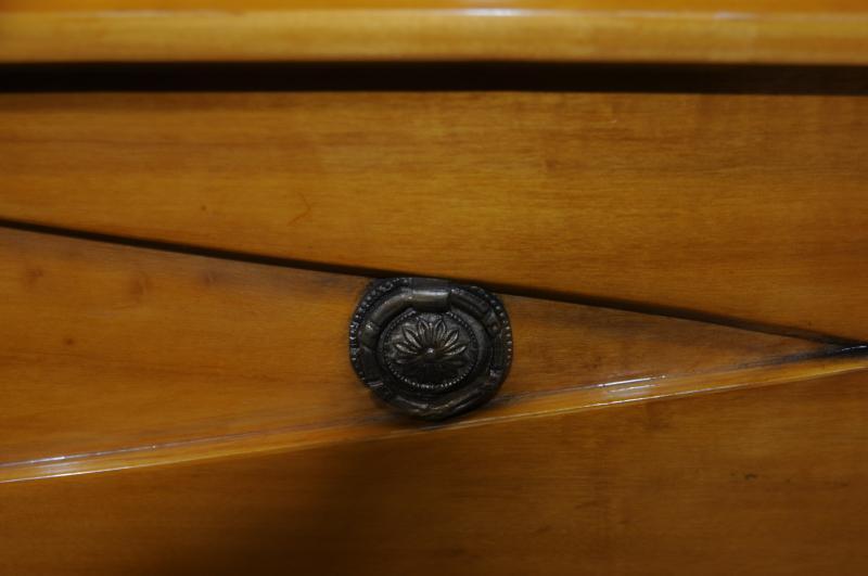Photo of Biedermeier Deco Chest Drawers Cabinet Blonde Walnut Furniture