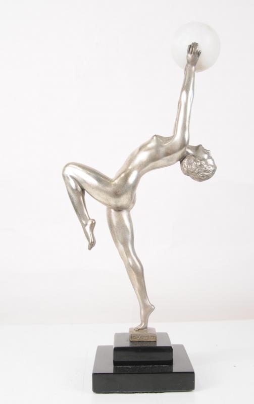 Photo of Bronze Art Deco Biba Ball Girl Figurine Dancer Statue