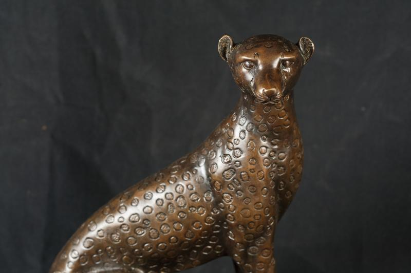 Photo of Bronze Casting Leopard Cat Statue Animal