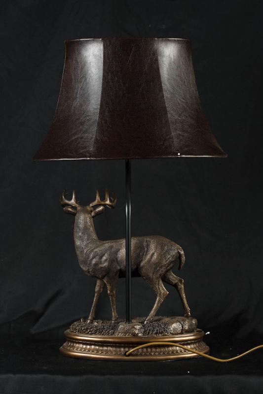 Photo of Bronze Casting Stag Lamp Light Deer Animals