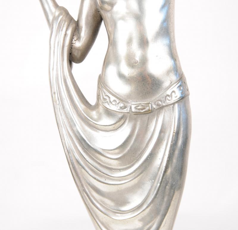 Photo of Deco Table Lamp Light French Semi Nude Figurine Statue