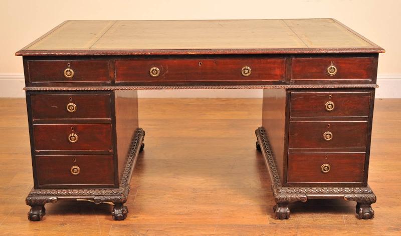 English Antique Writing Desks ~ English antique victorian pedestal desk desks writing