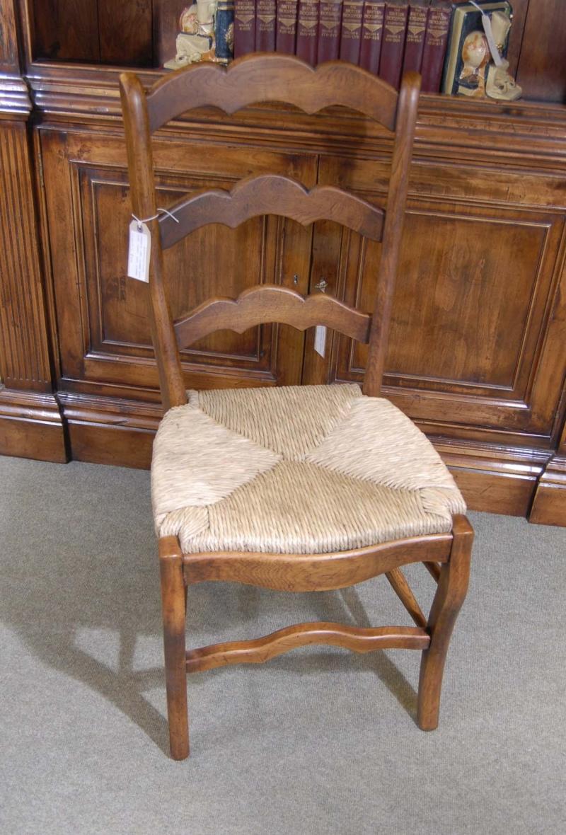 Photo of English Barley Twist Refectory Table & Ladderback Chair Set