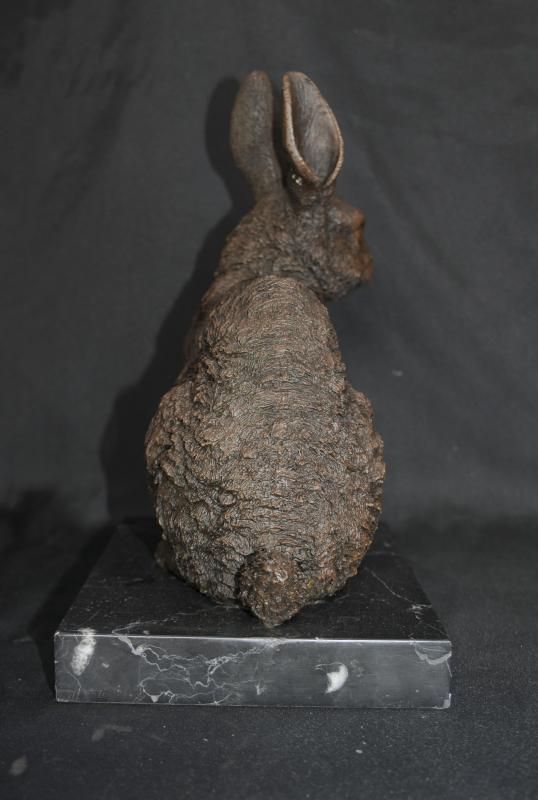 Photo of English Bronze Casting Rabbit Hare Animals