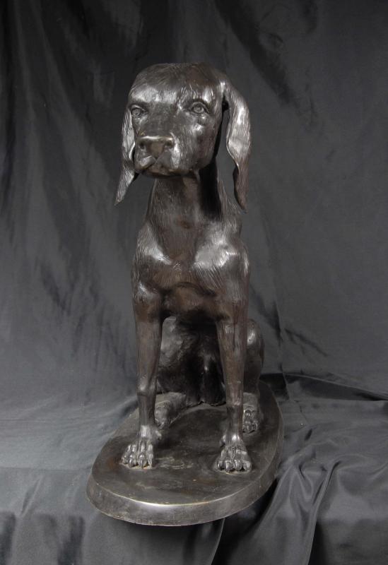 Photo of English Bronze Labrador Dog Statue Labs Dogs